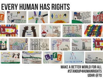 "CW BAKER AMNESTY INTERNATIONAL CLUB Various Artists -Grades 9-12 ""Every Human Has Rights"""