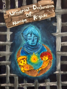 "FIRST PLACE (Grades 9-12) JUDY NAO, 12th Grade ""Hope For A Better Tomorrow"""